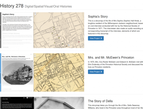 HIS278: Digital, Spatial, Visual and Oral Histories