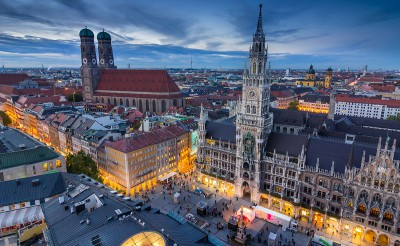 Arial view of Munich, Germany