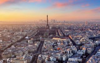 City of Paris arial view