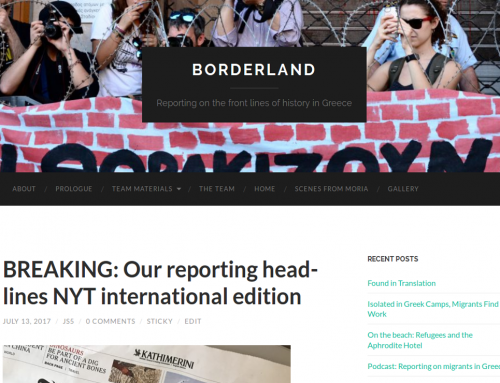 Borderland: Reporting on the front lines of history in Greece