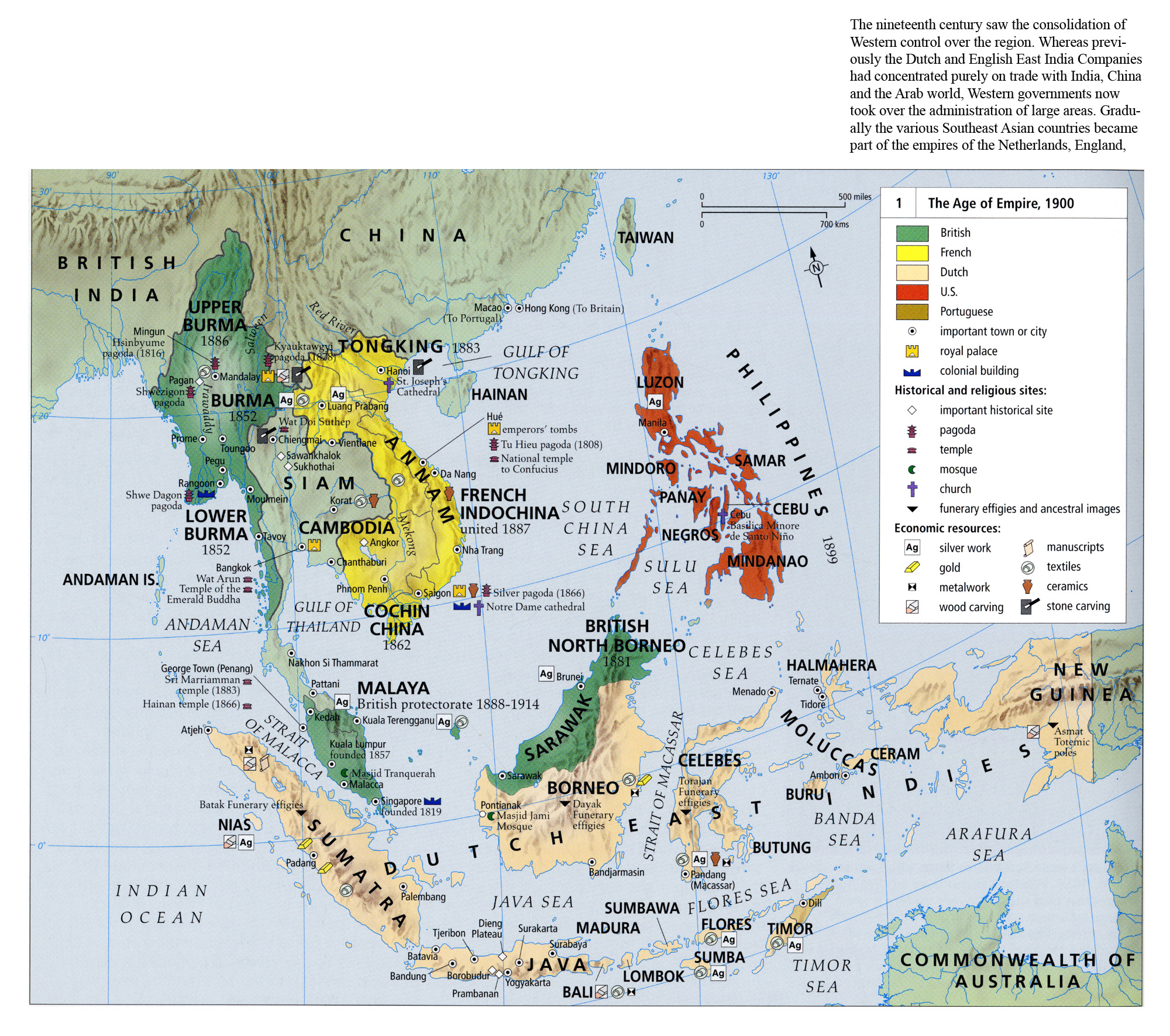 Image of: The Age Of Empire In Southeast Asia 1900 Mapping Globalization