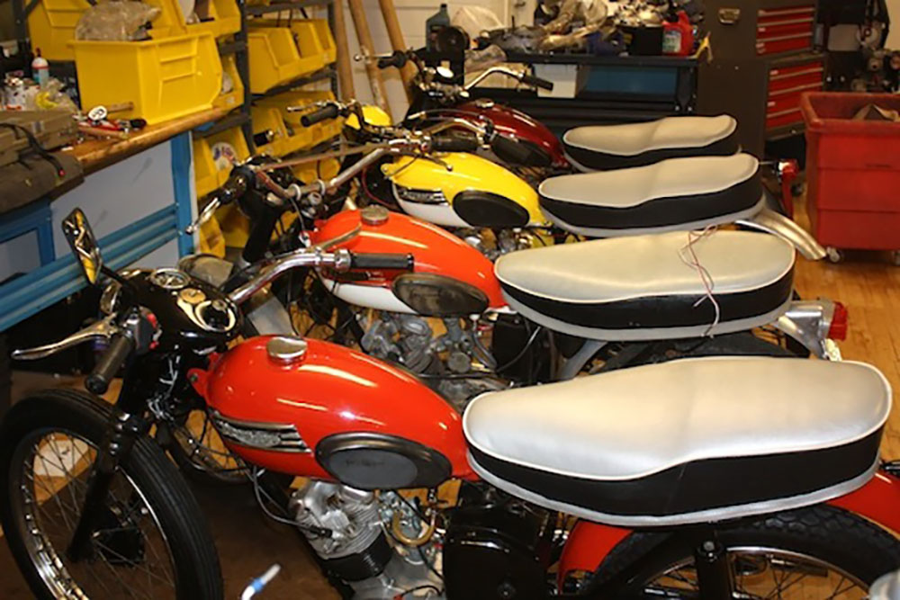 Collection of Triumph motorcycles