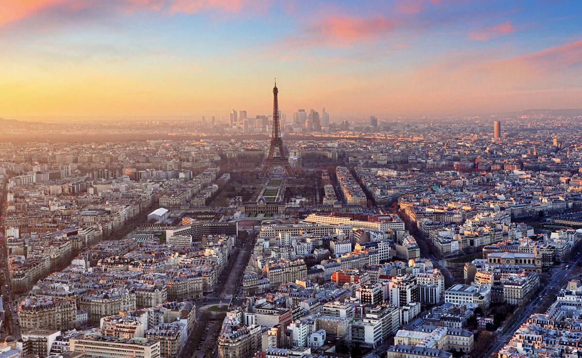 City of Paris arial view